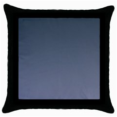 Charcoal To Cool Gray Gradient Black Throw Pillow Case