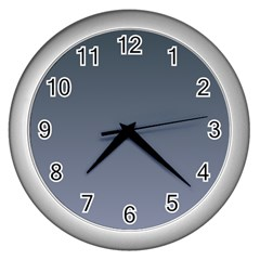 Charcoal To Cool Gray Gradient Wall Clock (silver)