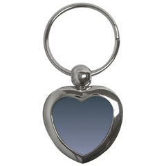 Charcoal To Cool Gray Gradient Key Chain (Heart)