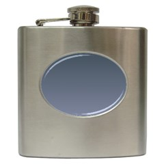 Charcoal To Cool Gray Gradient Hip Flask