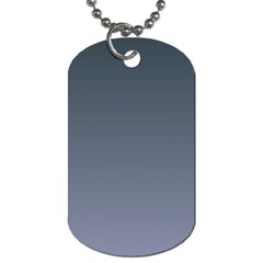Charcoal To Cool Gray Gradient Dog Tag (Two Sided)