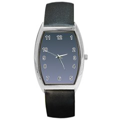 Charcoal To Cool Gray Gradient Tonneau Leather Watch