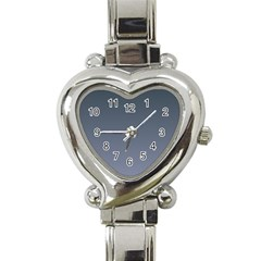 Charcoal To Cool Gray Gradient Heart Italian Charm Watch