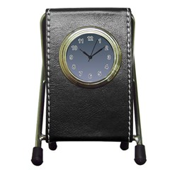 Charcoal To Cool Gray Gradient Stationery Holder Clock