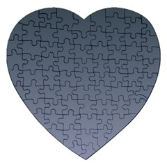 Charcoal To Cool Gray Gradient Jigsaw Puzzle (Heart)