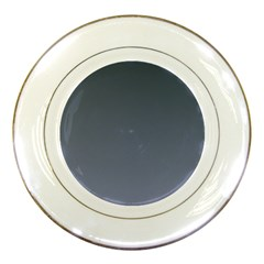 Charcoal To Cool Gray Gradient Porcelain Display Plate