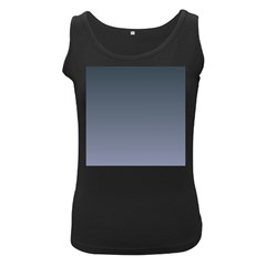 Charcoal To Cool Gray Gradient Womens  Tank Top (Black)