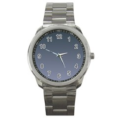 Charcoal To Cool Gray Gradient Sport Metal Watch