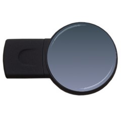 Charcoal To Cool Gray Gradient 4gb Usb Flash Drive (round)