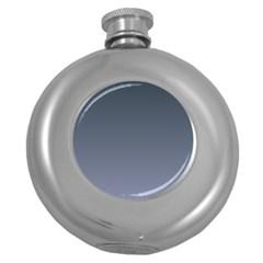 Charcoal To Cool Gray Gradient Hip Flask (Round)