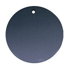 Charcoal To Cool Gray Gradient Round Ornament (Two Sides)
