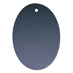 Charcoal To Cool Gray Gradient Oval Ornament (Two Sides)