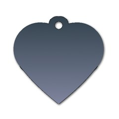 Charcoal To Cool Gray Gradient Dog Tag Heart (one Sided)