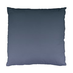 Charcoal To Cool Gray Gradient Cushion Case (One Side)