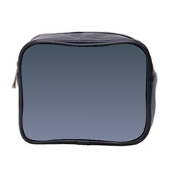 Charcoal To Cool Gray Gradient Mini Travel Toiletry Bag (two Sides)