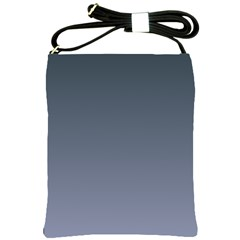 Charcoal To Cool Gray Gradient Shoulder Sling Bag
