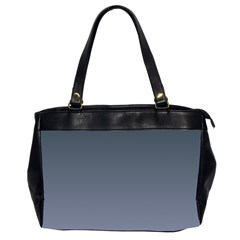 Charcoal To Cool Gray Gradient Oversize Office Handbag (Two Sides)