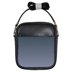 Charcoal To Cool Gray Gradient Girl s Sling Bag