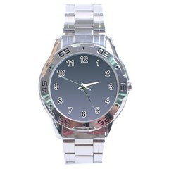 Charcoal To Cool Gray Gradient Stainless Steel Watch (men s)