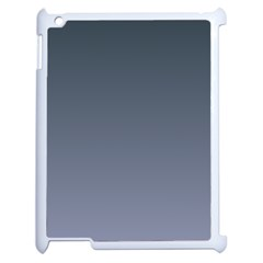 Charcoal To Cool Gray Gradient Apple iPad 2 Case (White)