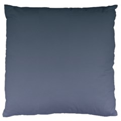 Charcoal To Cool Gray Gradient Large Cushion Case (Two Sides)