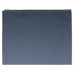 Charcoal To Cool Gray Gradient Cosmetic Bag (XXXL)