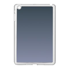 Charcoal To Cool Gray Gradient Apple Ipad Mini Case (white)