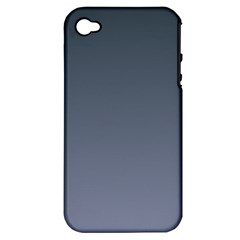 Charcoal To Cool Gray Gradient Apple iPhone 4/4S Hardshell Case (PC+Silicone)