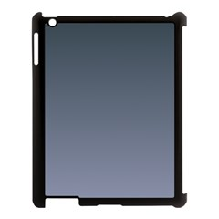 Charcoal To Cool Gray Gradient Apple iPad 3/4 Case (Black)