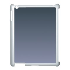 Charcoal To Cool Gray Gradient Apple iPad 3/4 Case (White)