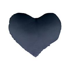 Charcoal To Cool Gray Gradient 16  Premium Heart Shape Cushion