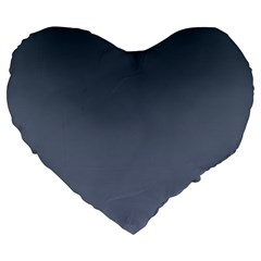 Charcoal To Cool Gray Gradient 19  Premium Heart Shape Cushion