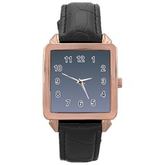 Charcoal To Cool Gray Gradient Rose Gold Leather Watch