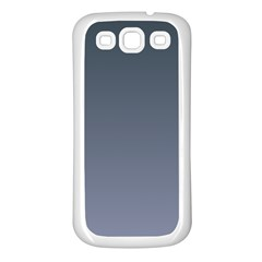 Charcoal To Cool Gray Gradient Samsung Galaxy S3 Back Case (white)