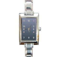 Cool Gray To Charcoal Gradient Rectangular Italian Charm Watch