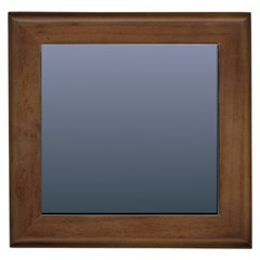Cool Gray To Charcoal Gradient Framed Ceramic Tile