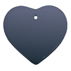 Cool Gray To Charcoal Gradient Heart Ornament