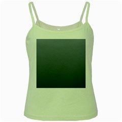Cool Gray To Charcoal Gradient Green Spaghetti Tank
