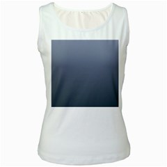 Cool Gray To Charcoal Gradient Womens  Tank Top (White)