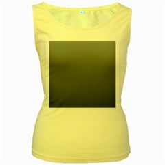 Cool Gray To Charcoal Gradient Womens  Tank Top (yellow)