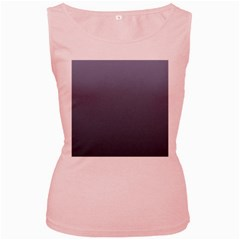 Cool Gray To Charcoal Gradient Womens  Tank Top (Pink)