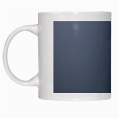 Cool Gray To Charcoal Gradient White Coffee Mug