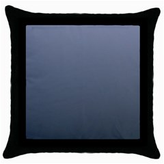 Cool Gray To Charcoal Gradient Black Throw Pillow Case