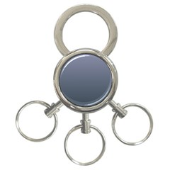 Cool Gray To Charcoal Gradient 3 Ring Key Chain