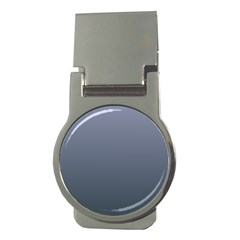 Cool Gray To Charcoal Gradient Money Clip (Round)