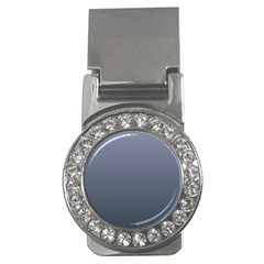 Cool Gray To Charcoal Gradient Money Clip (CZ)