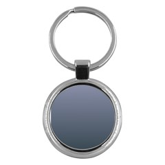 Cool Gray To Charcoal Gradient Key Chain (round)