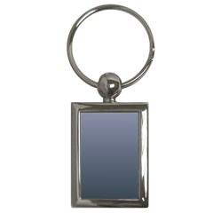 Cool Gray To Charcoal Gradient Key Chain (rectangle)