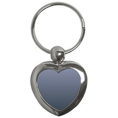 Cool Gray To Charcoal Gradient Key Chain (Heart)