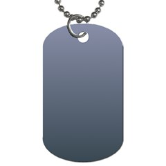 Cool Gray To Charcoal Gradient Dog Tag (one Sided)